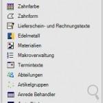 Stammdaten Software für Zahntechnische Labore